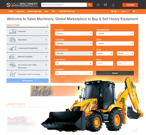 Heavy equipment international marketplace