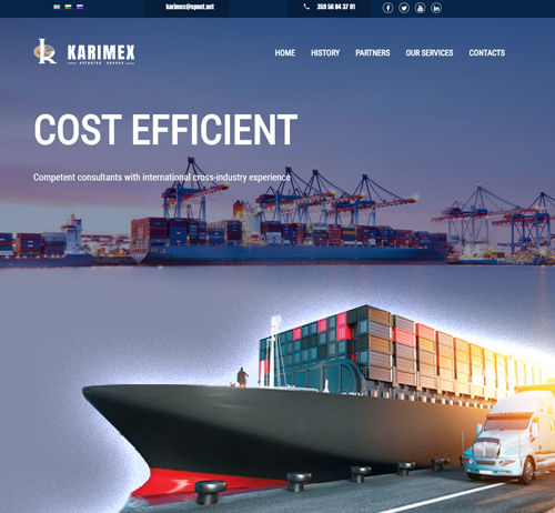 Shipping agency website